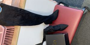 Women's thigh high black suede boots for Sale in Philadelphia, PA