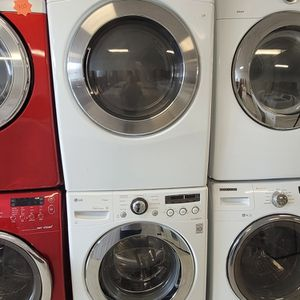 Lg Front Load Washer And Electric Dryer Mix And Match Set Used In Good Condition With 90day's Warranty for Sale in Washington, DC
