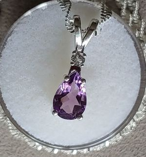 925 Sterling Silver Natural Amethyst Necklace for Sale in Bonney Lake, WA