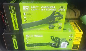 Greenworks 60v chainsaw & blower for Sale in Federal Way, WA