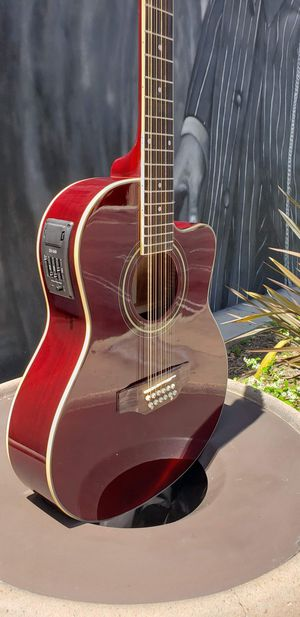 New 12 String Burgundy Cutaway Acoustic-Electric Guitar Combo Guitarra Requinto for Sale in Downey, CA