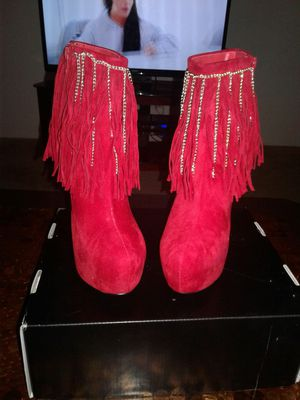 Suede fringe booties for Sale in Daytona Beach, FL