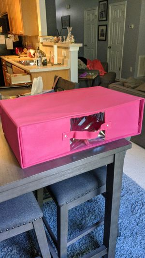 Pink under bed or closet canvas storage for Sale in Apex, NC
