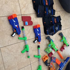 A Bunch Of Nerf Guns And Some Darts for Sale in Miami, FL