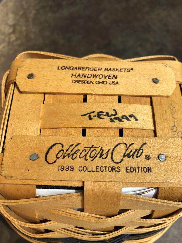 Longaberger Collectors Club basket