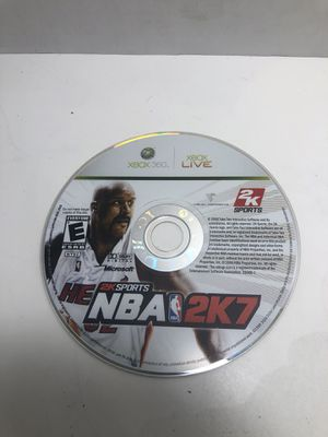 XBOX 360 NBA Basketball 2K7 2007 without case for Sale in Los Angeles, CA