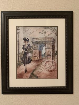 Set of 2 Paris Paintings with Frames for Sale in Las Vegas, NV
