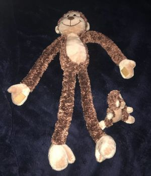 GMA monkey stuffed toy with attached baby for Sale in San Bernardino, CA