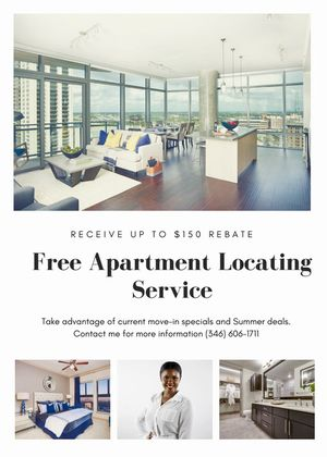 Free Apartment Locator Service for Sale in Houston, TX