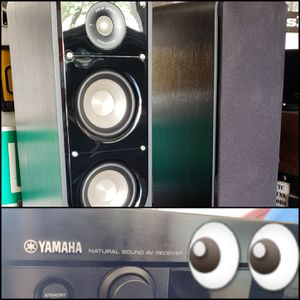 NEW POLK AUDIO SIGNATURE S50 SPEAKERS & YAMAHA RX-V1300 SURROUND SOUND AMPLIFIER for Sale in Maricopa, AZ