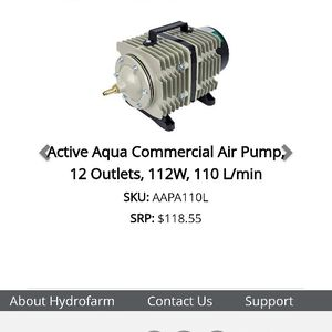 Active Aqua Hydro Farm pump for Sale in Morongo Valley, CA