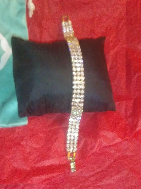Triple Strand Quality CZ's Bracelet