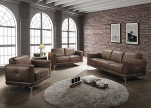 Just $50 down - New Reagan 3 pc living room set sofa loveseat chair for Sale in Anaheim, CA