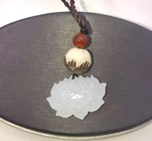 """""""THE LOVELY LOTUS!"""" Beautiful white Jade carved Lotus pendant on an adjustable cord necklace NEW! for Sale in Carrollton, TX"""
