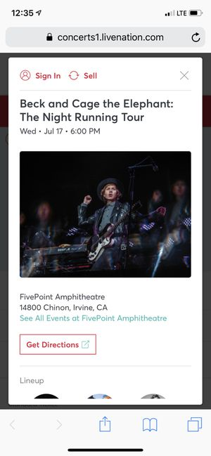Beck & Cage the Elephant for Sale in Bell Gardens, CA