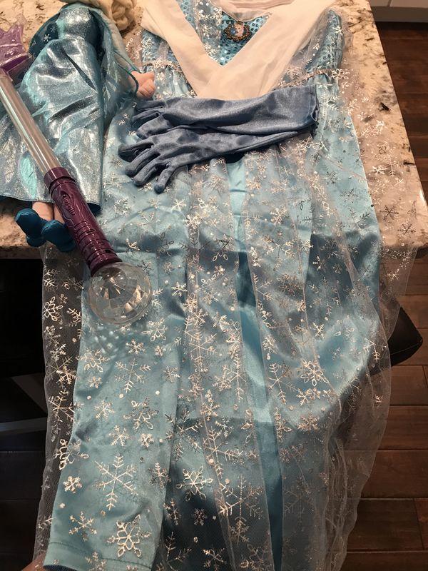 Elsa dress and accessories