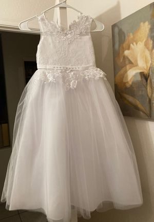 Dress for baptism / Vestido para Bautizo! NUEVO, Talla 6 for Sale in Buckeye, AZ