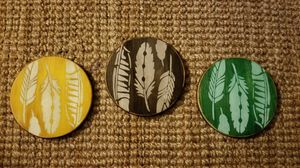 Set of 3 leaf home decor, wall decor, circles for Sale in Rocky River, OH