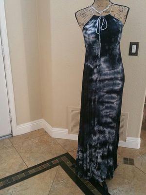 Beautiful Dark Blue w/ white. Long dress. $10 . Medium. By Phanuel for Sale in Riverside, CA