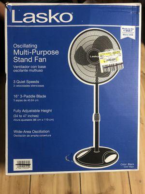 """Lasko 16"""" Oscillating Pedestal Stand 3-Speed Fan, Model S16500, Black for Sale in Frisco, TX"""