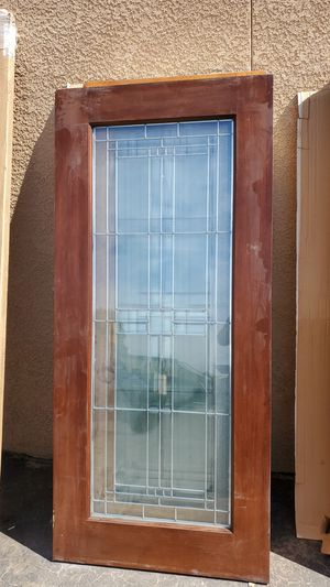 Stained / painted wood entry door for Sale in Rialto, CA
