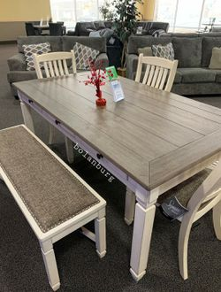 Bolanburg Antique White/Oak Counter Height Set | D647 for Sale in Alexandria,  VA