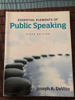 Public speaking 6th edition for Sale in North Bergen, NJ