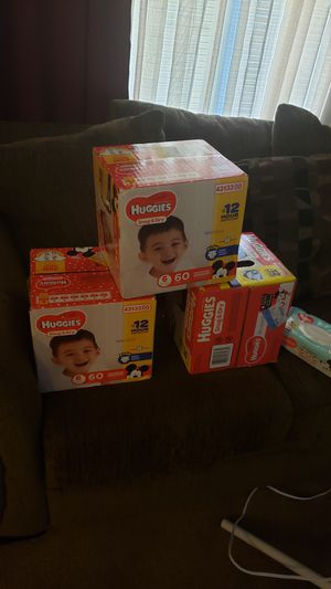 3 boxes of huggies for Sale in Mount Laurel, NJ