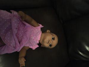 Hard plastic girl doll reborn for Sale in St. Petersburg, FL