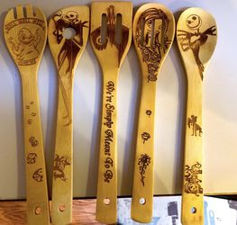 Nightmare Before Christmas Laser Engraved wooden spoons for Sale in Lynnwood,  WA