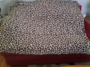 leopard print throw blanket for Sale in Medford, MA