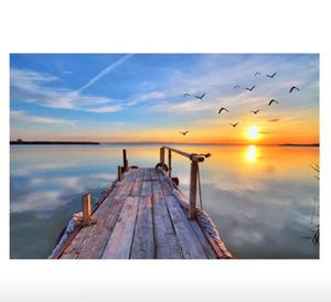 Beautiful Stretched Waterside Canvas for wall Decor for Sale in Kirkland, WA