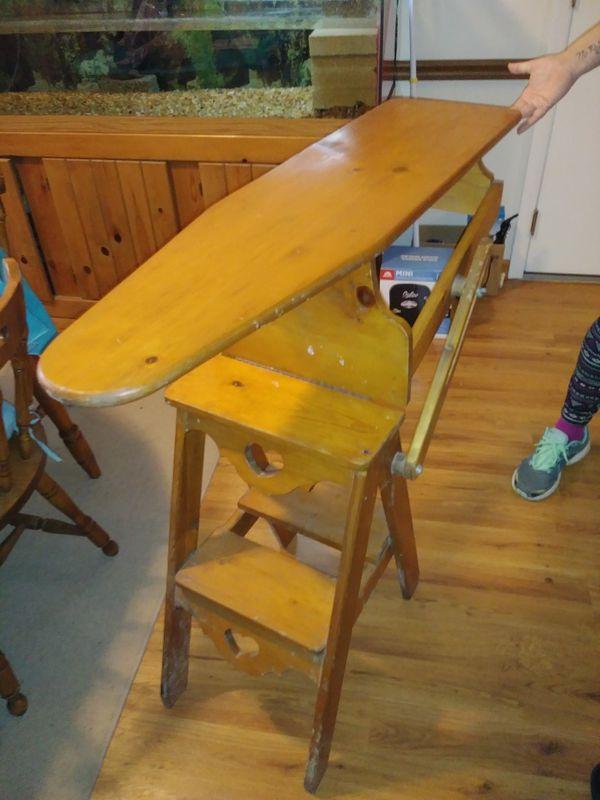Vintage shelf/iron board/ladder