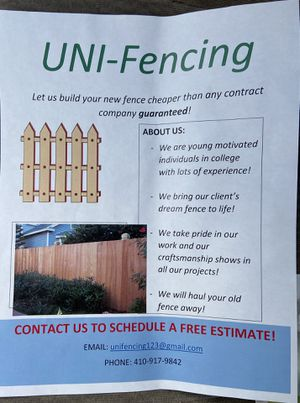 Uni-Fencing! for Sale in Glen Burnie, MD