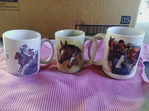 3 horse mugs. for Sale in Linden, PA