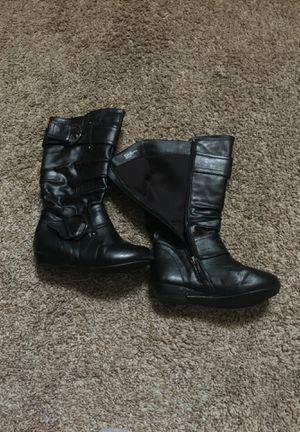 Girls black zip boots size 12m for Sale in Jacksonville, FL