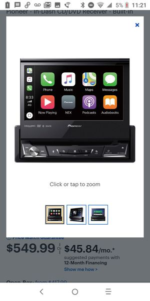 "Pioneer - 7"" - CD/DVD - Apple® iPhone®-Ready - In-Dash Receiver - Black for Sale in Guadalupe, AZ"