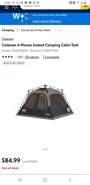 Coleman 4-Person Instant Camping Cabin Tent Great condition for Sale in Phoenix, AZ
