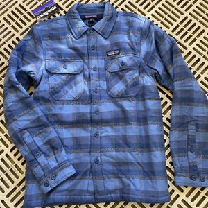 Patagonia Men's Insulated Fjord Flannel Shirt Jacket Small for Sale in Statesville, NC