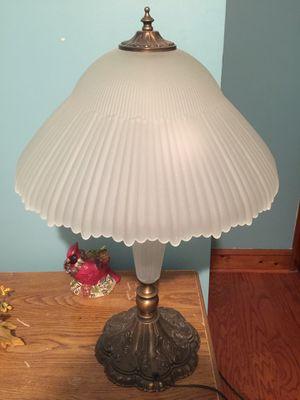 Antique brass glass lamp for Sale in Philadelphia, PA