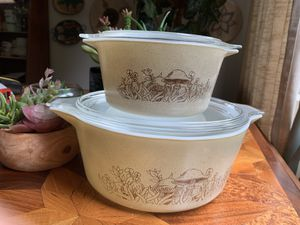 Vintage 1970's Mushroom Pyrex Baking Dishes ✨Pending Sale for Sale in Issaquah, WA