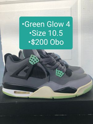"Mens Nike Air Jordan Retro 4 ""Green Glow"" Size 10.5 $200 Obo for Sale in Winter Haven, FL"