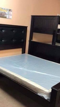 New Solid Wood Bed Frame Full Size No Mattress For $420 Deliver And Installation Included for Sale in Jurupa Valley,  CA