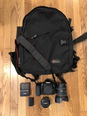 Canon EOS 60D Body and 2 Lenses; with bag for Sale in Nashville, TN