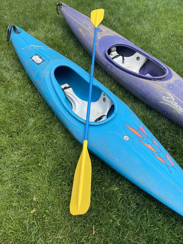 Two Kayaks with Paddle