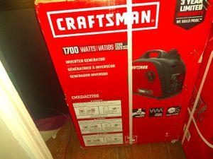 Craftsman Inverter Generator w/warranty for Sale in Shawnee, KS