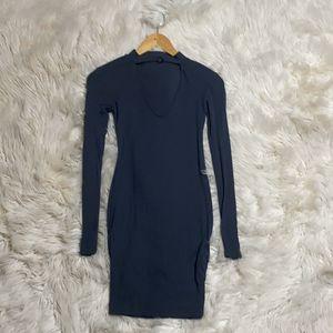 Long sleeve dark grey midi dress for Sale in Phoenix, AZ
