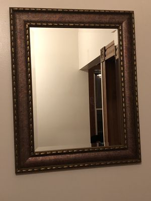 Vintage beveled glass mirror- very sturdy for Sale in Portland, OR