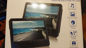 9.5'' Dual Screen DVD Player Portable for Car Travel Built-in 5 Hours Rechargeable Battery for Sale in Weymouth, MA