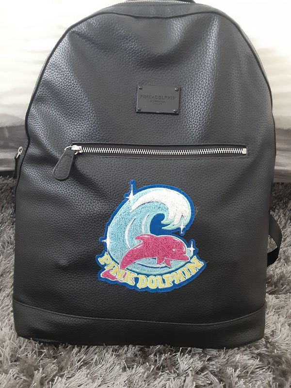 Pink Dolphin Mens Backpack Black